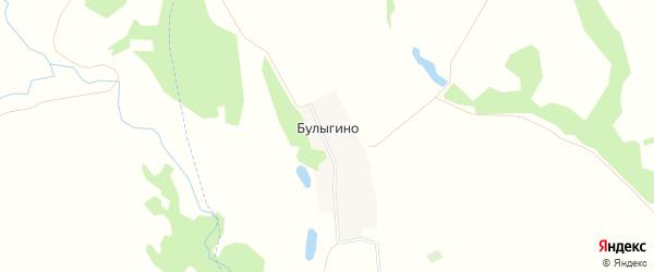 Карта села Булыгино в Рязанской области с улицами и номерами домов