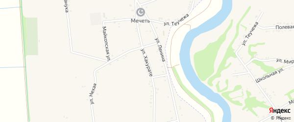 Улица Хакурате на карте аула Пчегатлукая Адыгеи с номерами домов