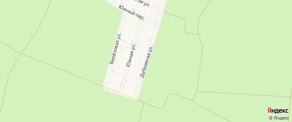 Дубравная улица на карте территории СНТ Дубравы Воронежской области с номерами домов
