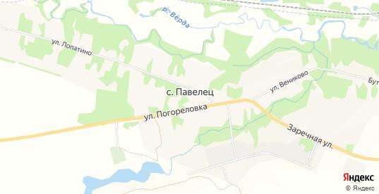 Карта села Павелец в Рязанской области