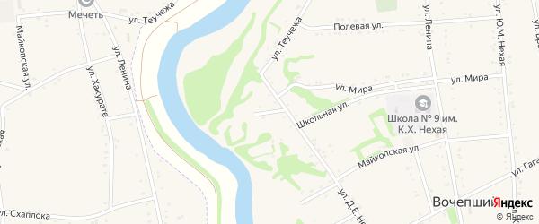 Адыгейская улица на карте Кавказа Адыгеи с номерами домов