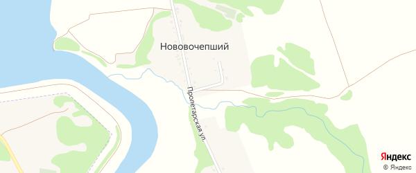 Первомайская улица на карте Нововочепший хутора Адыгеи с номерами домов