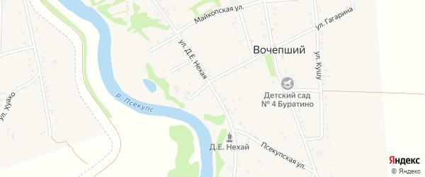 Д.Е.Нехая улица на карте Вочепший аула Адыгеи с номерами домов