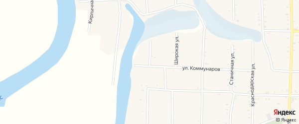 Улица Горького на карте Крыловской станицы Краснодарского края с номерами домов