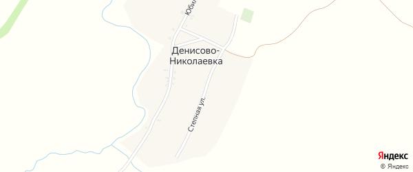 Степная улица на карте хутора Денисова-Николаевки Ростовской области с номерами домов
