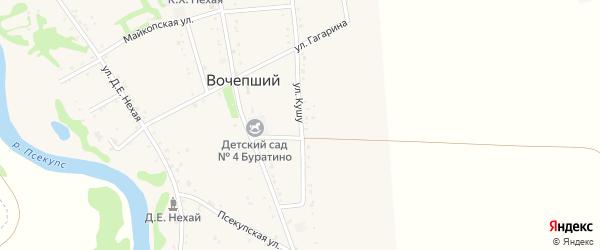 Улица им.Кушу А.Г. на карте Вочепший аула Адыгеи с номерами домов