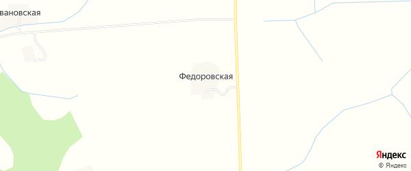 Карта Федоровской деревни в Вологодской области с улицами и номерами домов