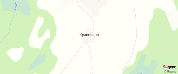 Карта деревни Крапивино в Вологодской области с улицами и номерами домов