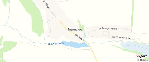 Карта Ильинского села в Рязанской области с улицами и номерами домов