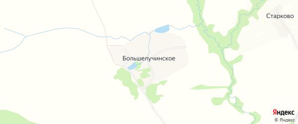Карта Большелучинского села в Владимирской области с улицами и номерами домов