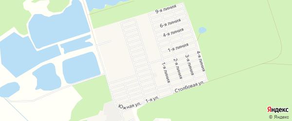 Территория СНТ Москвич на карте деревни Верейки с номерами домов