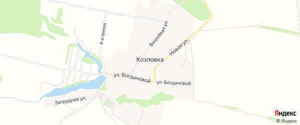 Карта села Козловки в Рязанской области с улицами и номерами домов