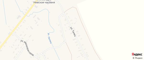 Улица Талец на карте села Конево с номерами домов