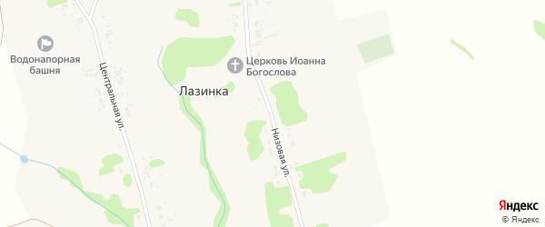 Низовая улица на карте села Лазинки Рязанской области с номерами домов