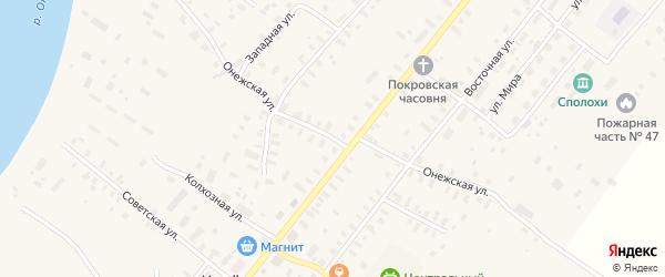 Онежская улица на карте села Конево с номерами домов