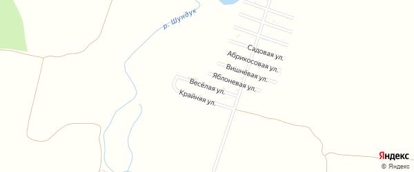 Веселая улица на карте Дзержинца Адыгеи с номерами домов