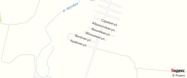 Новая улица на карте хутора Шундука Адыгеи с номерами домов