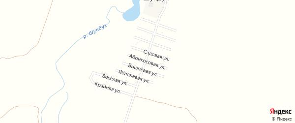 Абрикосовая улица на карте Радуги Адыгеи с номерами домов