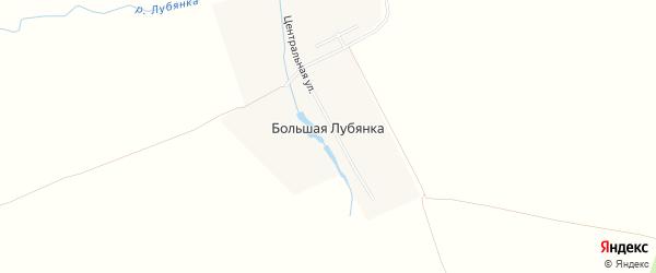 Карта деревни Большей Лубянки в Рязанской области с улицами и номерами домов