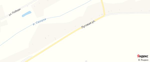 Луговая улица на карте села Екатериновки Воронежской области с номерами домов