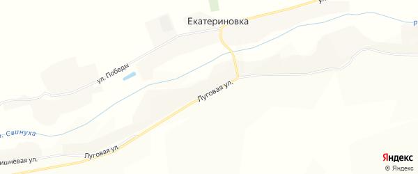 Карта села Екатериновки в Воронежской области с улицами и номерами домов