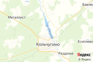 Карта г. Кольчугино