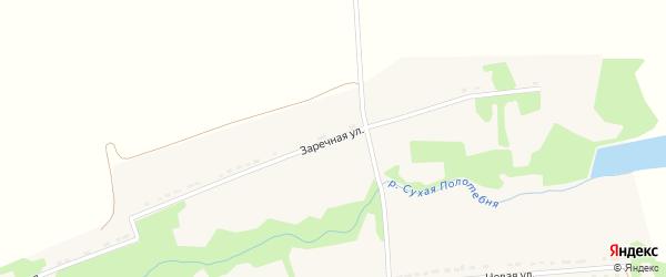 Заречная улица на карте Спасского села Рязанской области с номерами домов
