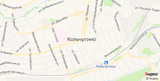СТ Березка на карте Кольчугино с номерами домов