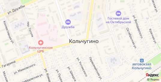 Вишневая улица в Кольчугино с номерами домов на карте. Спутник и схема онлайн