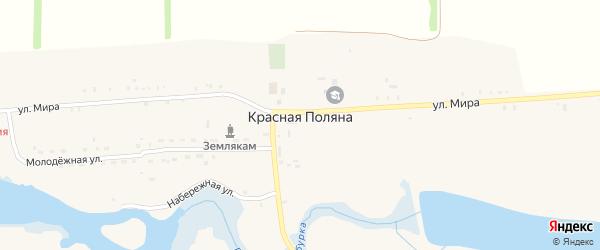 Радужная улица на карте хутора Красной Поляны с номерами домов