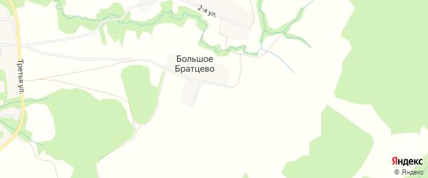 Карта деревни Большое Братцево в Владимирской области с улицами и номерами домов
