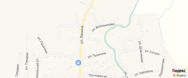 Переулок Ленина 5 на карте аула Понежукай Адыгеи с номерами домов