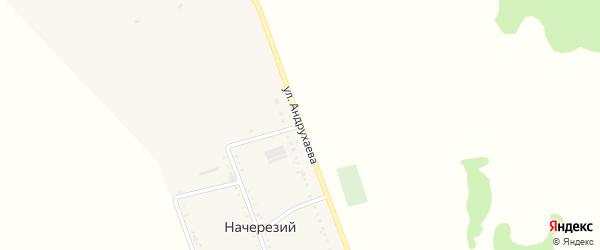 Улица Андрухаева на карте Начерезий аула Адыгеи с номерами домов