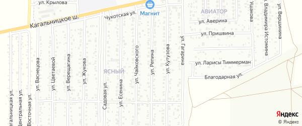 Улица Репина на карте Азова с номерами домов