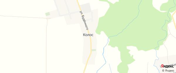 Карта хутора Колоса в Адыгее с улицами и номерами домов
