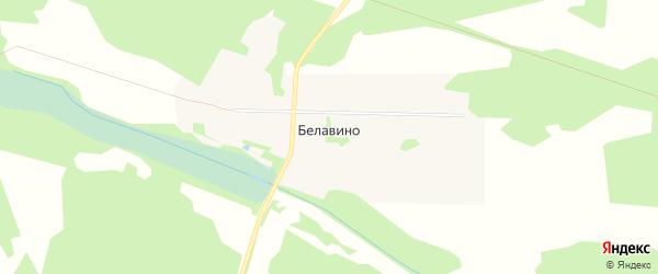Карта деревни Белавино в Московской области с улицами и номерами домов