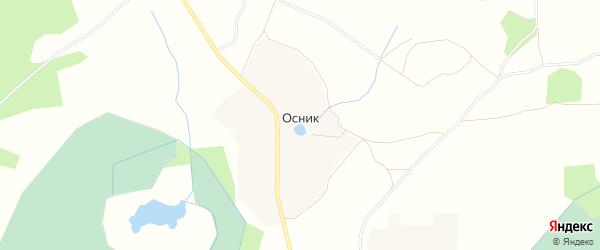 Карта деревни Осника в Ярославская области с улицами и номерами домов