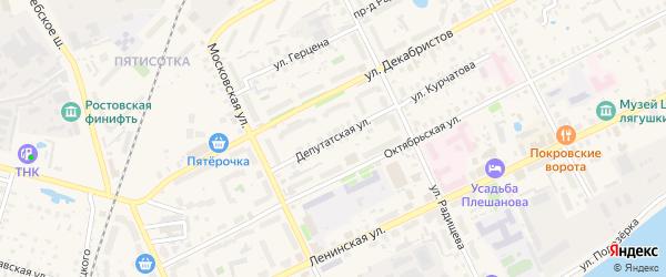 Депутатская улица на карте Ростова с номерами домов
