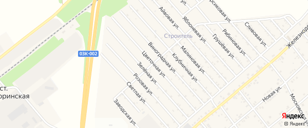 Цветочная улица на карте Строителя с номерами домов