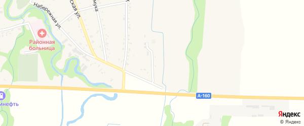 Восточная улица на карте аула Понежукай Адыгеи с номерами домов
