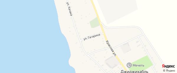 Улица Гагарина на карте аула Джиджихабля Адыгеи с номерами домов