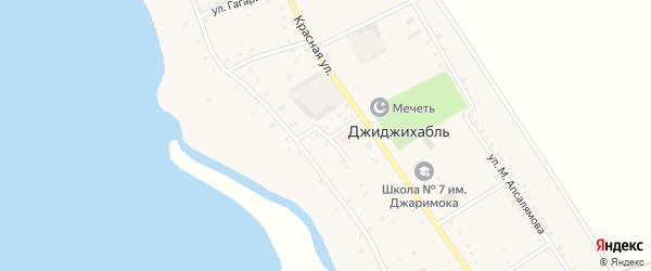 Больничная улица на карте аула Джиджихабля Адыгеи с номерами домов