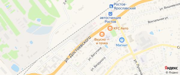 Улица Достоевского на карте Ростова с номерами домов