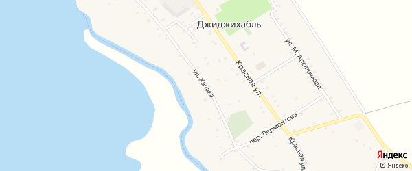 Улица им Хачака Х.М. на карте аула Джиджихабля Адыгеи с номерами домов
