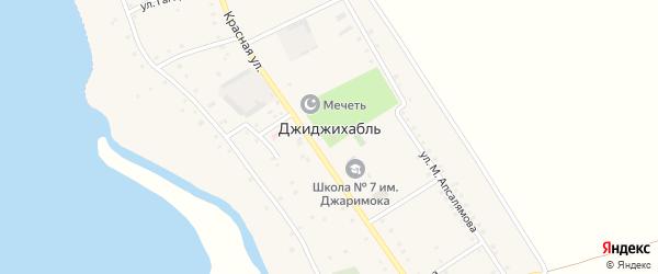 Дорога А/Д Джиджихабль-Тауйхабль на карте аула Джиджихабля с номерами домов