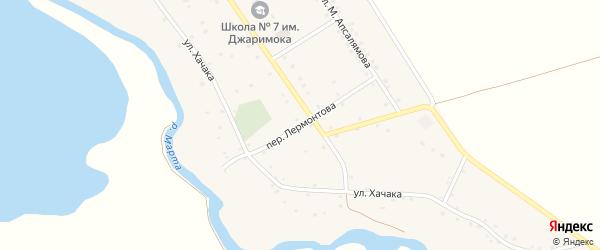 Переулок Лермонтова на карте аула Джиджихабля Адыгеи с номерами домов