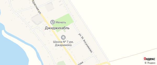 Улица М.Апсалямова на карте аула Джиджихабля Адыгеи с номерами домов
