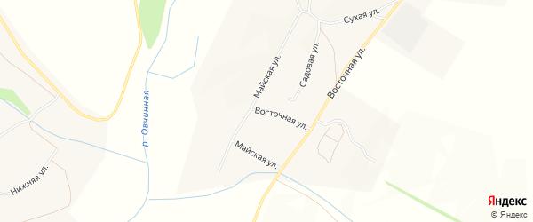 Карта села Жилино в Воронежской области с улицами и номерами домов