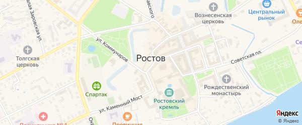Улица Кремль на карте Ростова с номерами домов
