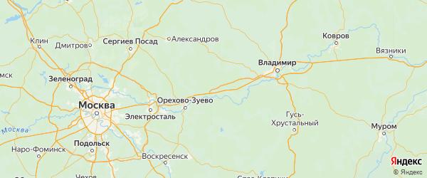 Карта Петушинского района Владимирской области с городами и населенными пунктами